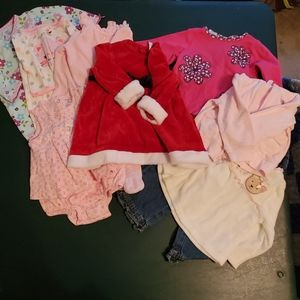 ♡♡ Lot of girl's clothes.  Size 6 month various